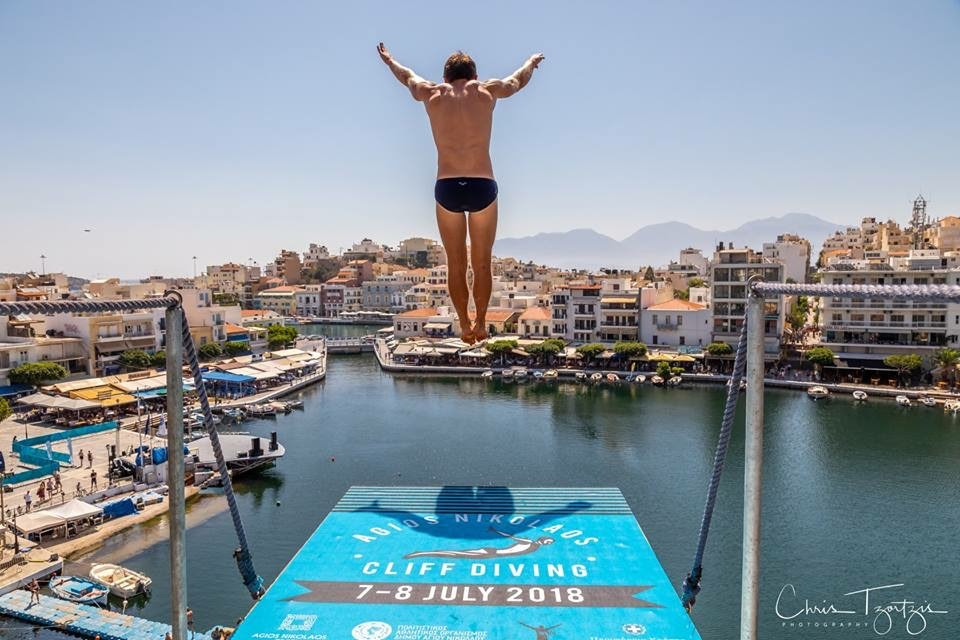 ICARUS SPORTS PARTNERS WITH AGIOS NIKOLAOS CLIFF DIVING